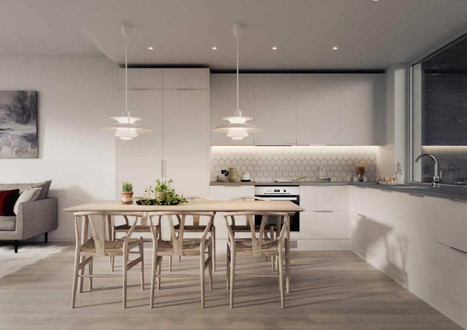 A-, B- ja D-talon keittiö