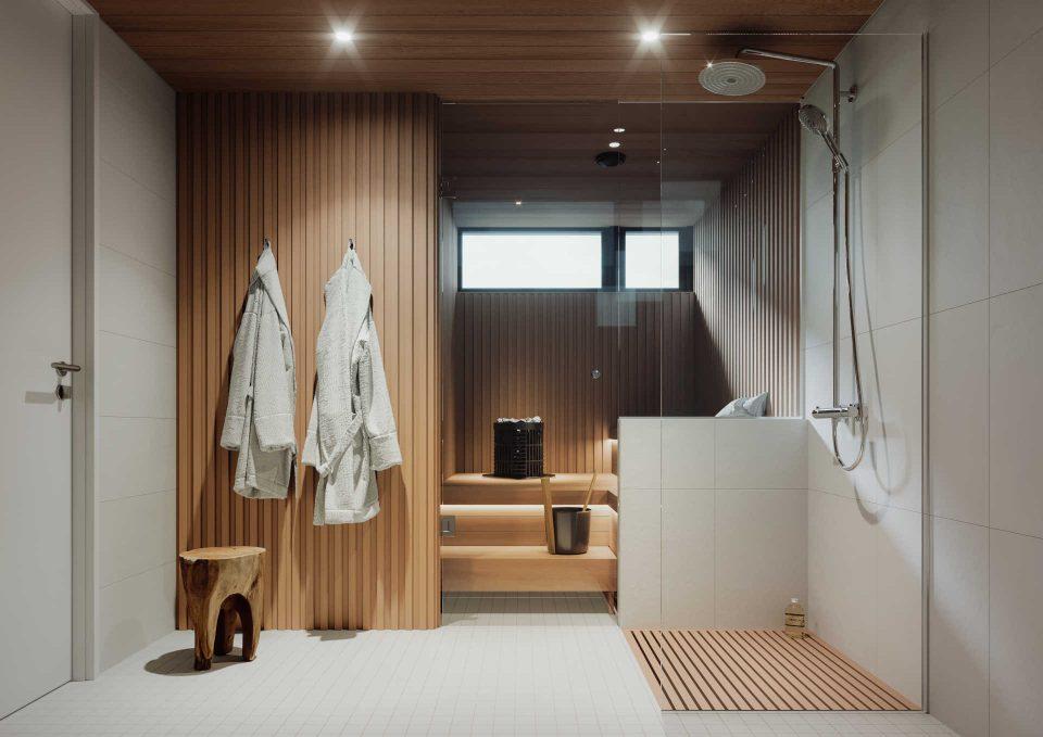 C-talon kylpyhuone ja sauna